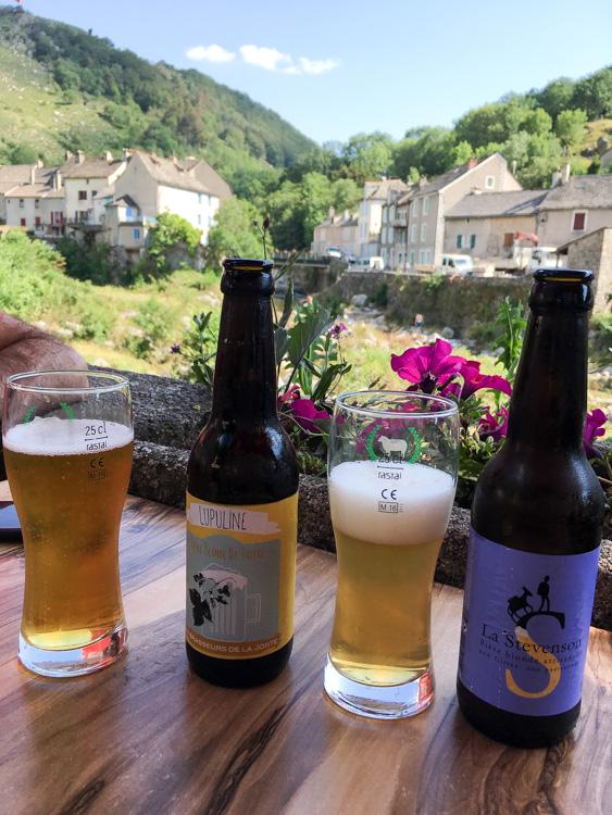 Pause biere apres la randonnée
