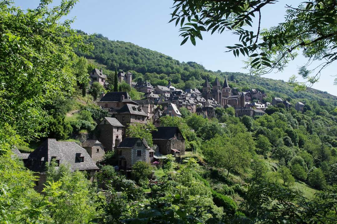 Panorama sur le Village de Conques