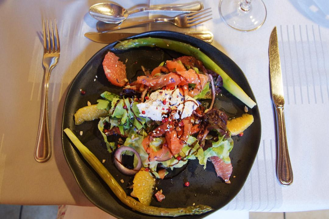 Saumon gravelax, restaurant Le Bleymard - Lozère