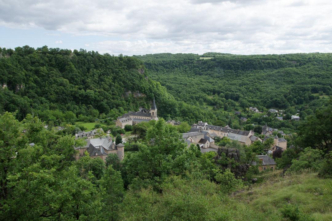 Panorama sur le village de Salles-la-Source