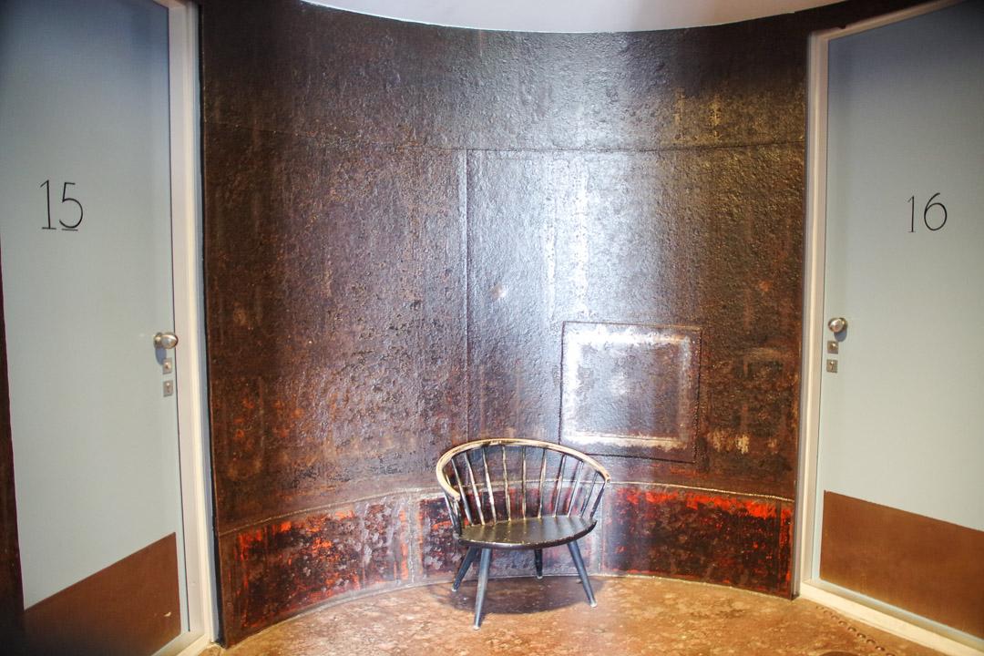 chambre dans le réservoir du chateau d'eau de la villa augustus