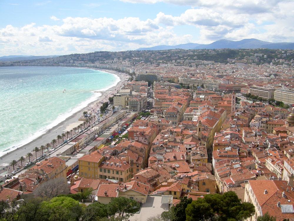 vue panoramique sur Nice