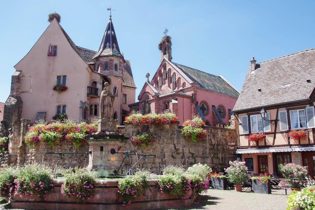 place principale du village d'Eguisheim