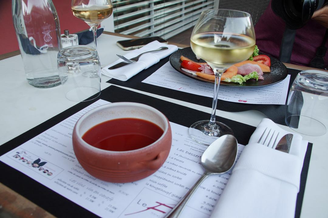 soupe froide - restaurant le floridor à Thann