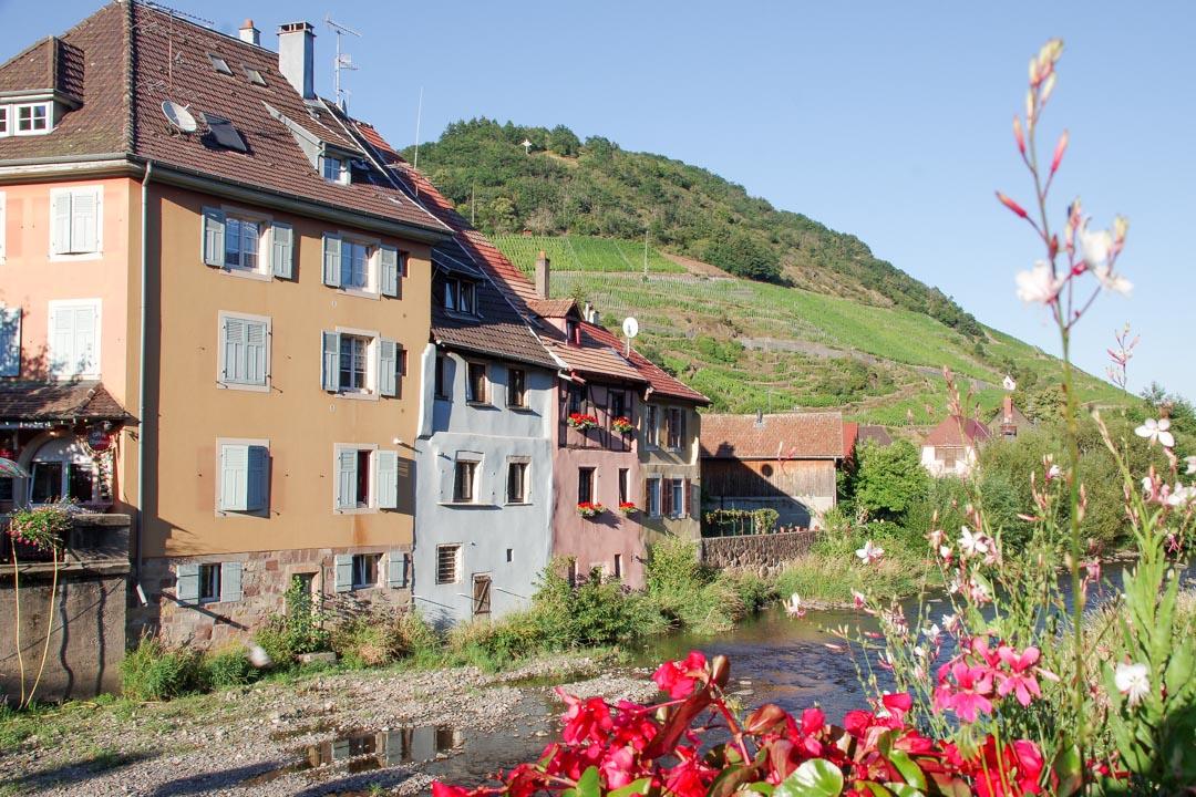 La ville de Thann au bord de la Thur