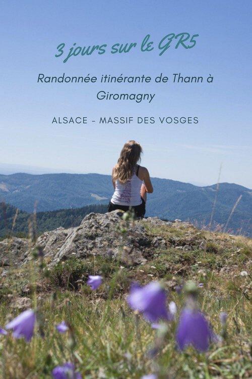 3 jours de randonnée itinérante sur le GR5 dans le Massif des Vosges de Thann à Giromagny