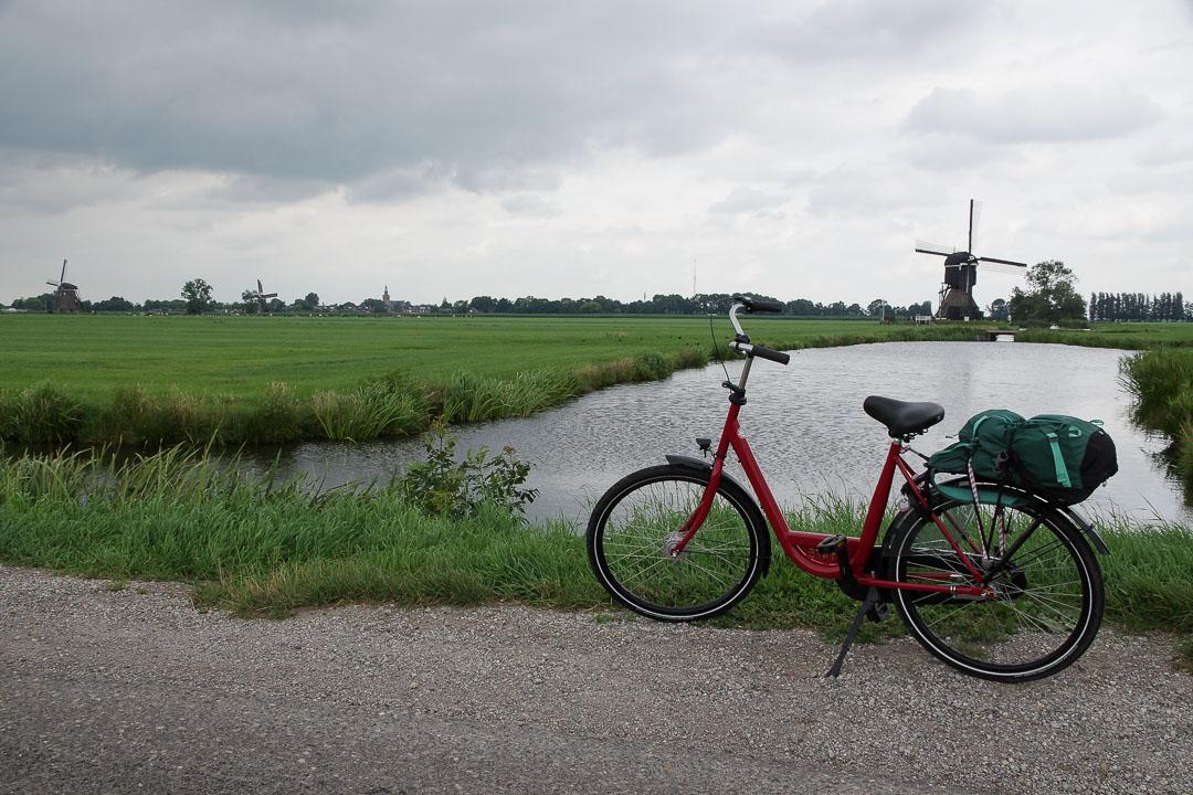 balade à vélo autour de Kinderdijk