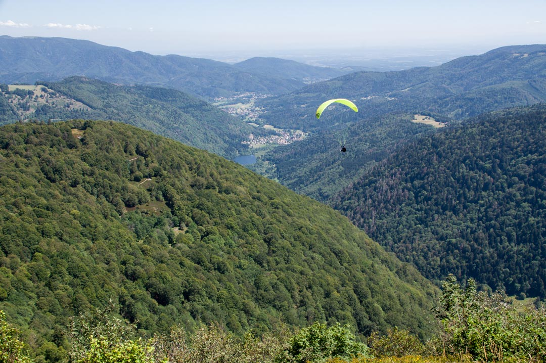 parapente au ballon d'Alsace