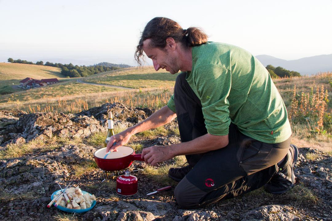 fondue comtoise pour le bivouac