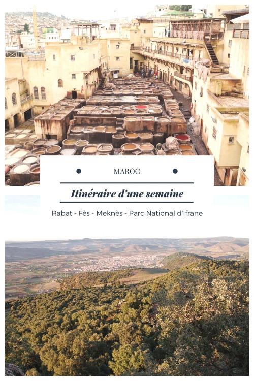 Voyage d'une semaine au nord du Maroc à la découverte des villes impériales Rabat, Fes et Meknes et du Moyen Atlas