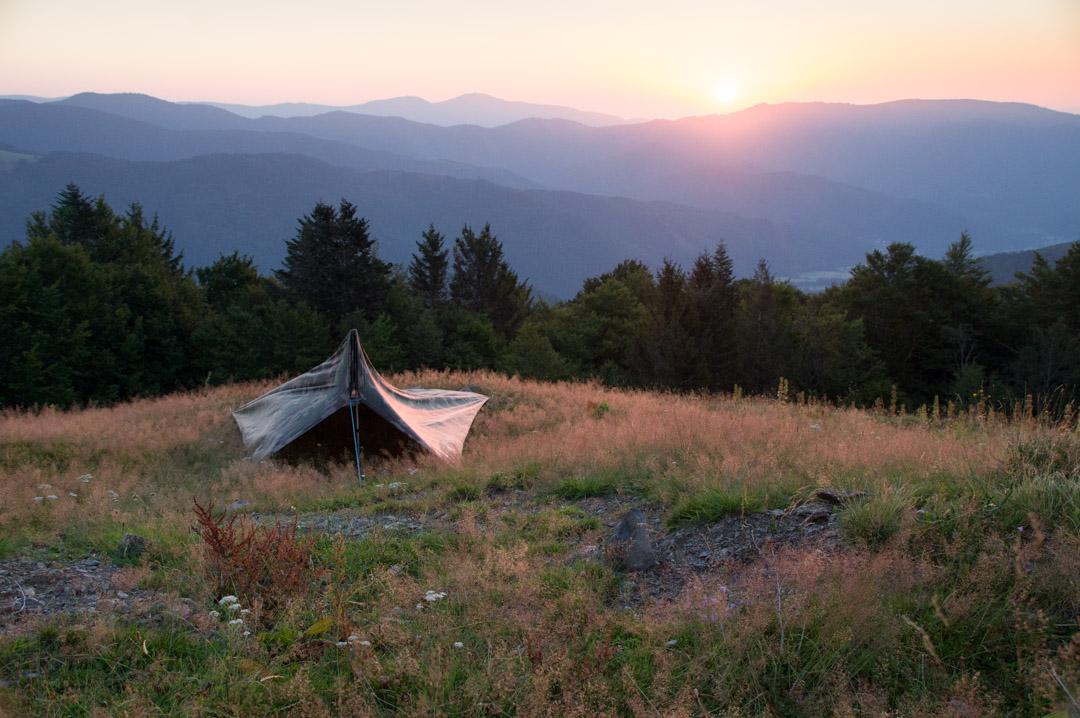 lever de soleil sur le massif des vosges