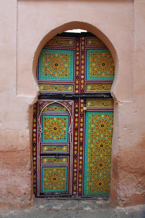 porte dans medina de meknes