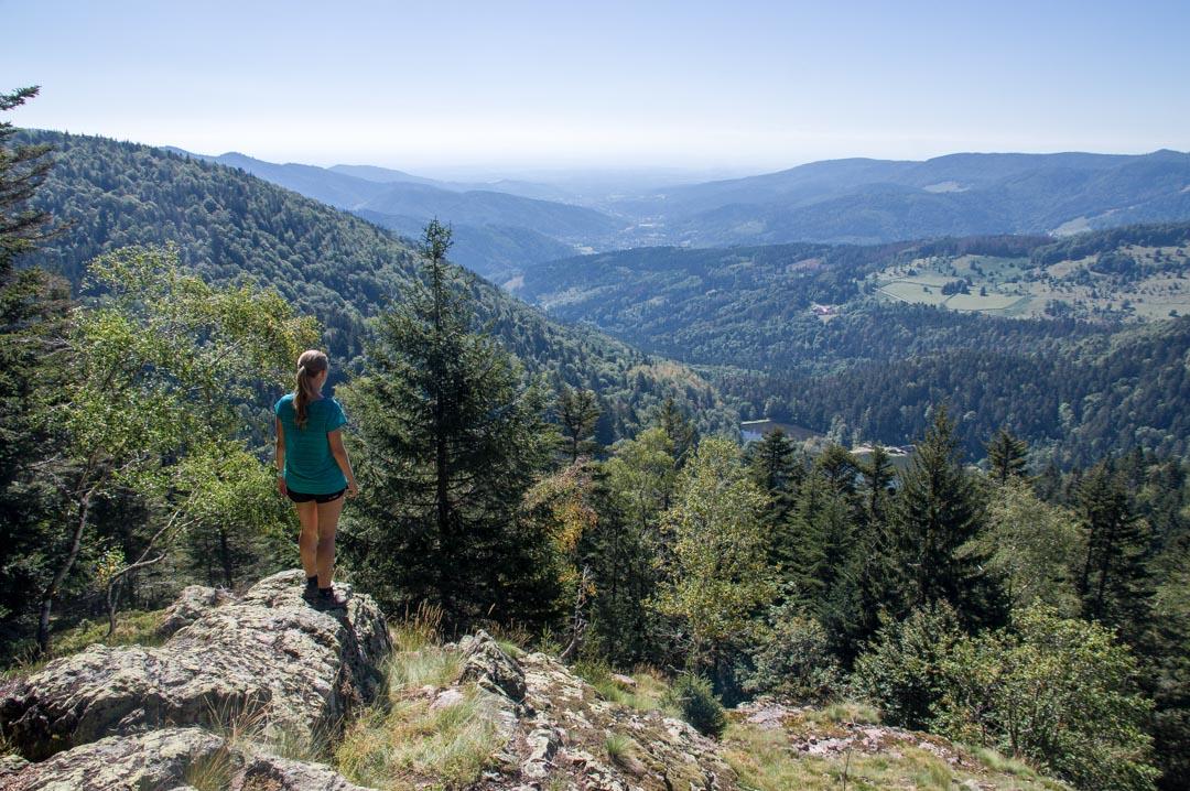 randonnée dans le massif des vosges : point de vue sur des lacs