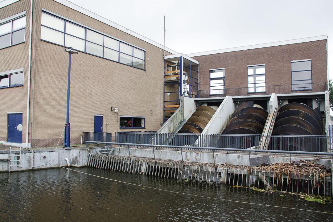 station de pompage moderne de Kinderdijk