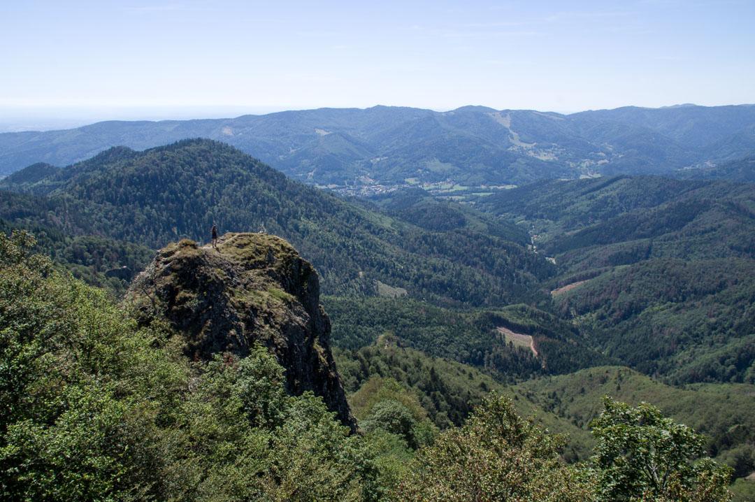 le rocher du Vogelstein dans les Vosges