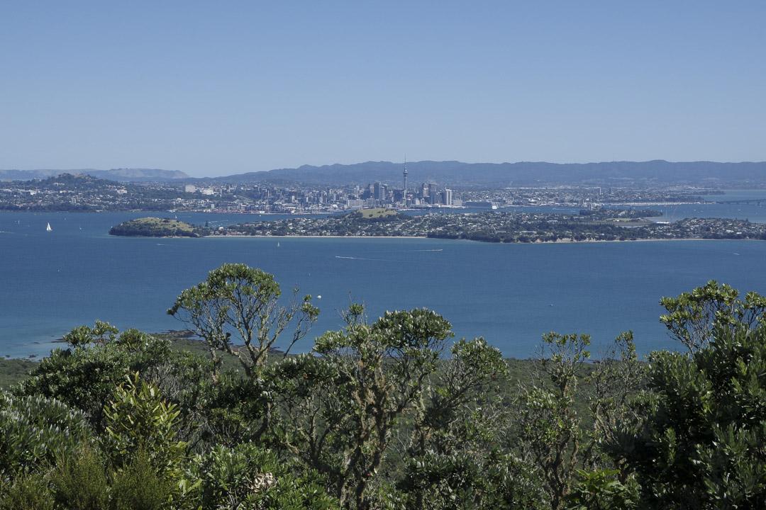 Panorama sur Auckland depuis Rangitoto