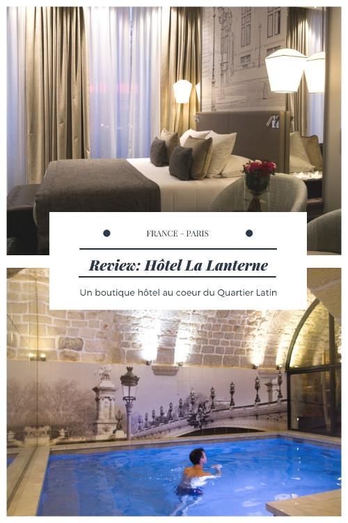 Review complète de l'Hôtel La Lanterne, un boutique-hôtel 4 étoiles situé dans le Quartier Latin à Paris