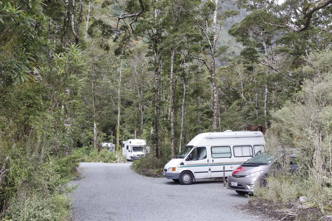camping de Milford Sounds en Nouvelle Zélande