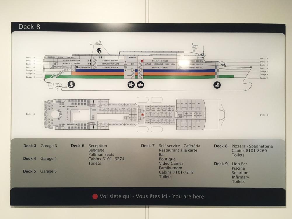 plan du bateau corsica ferries