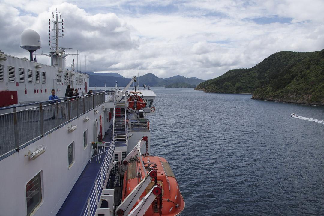 traversée en Ferry entre l'ile du sud et l'ile du nord de la nouvelle-zélande