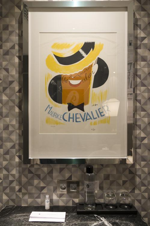 Gravure de maurice chevalier - Hôtel La Lanterne - Paris