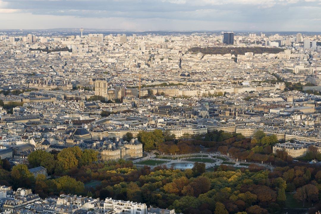 le jardin du luxembourg et Notre Dame de Paris