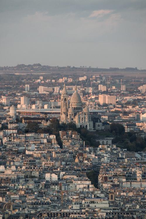 butte montmartre vue de la Tour Montparnasse