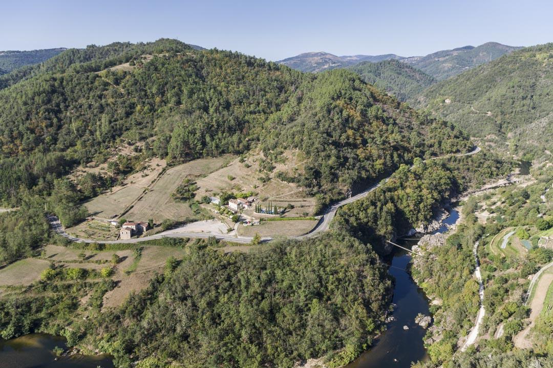 Panorama sur la Vallée de l'Eyrieux en Ardèche