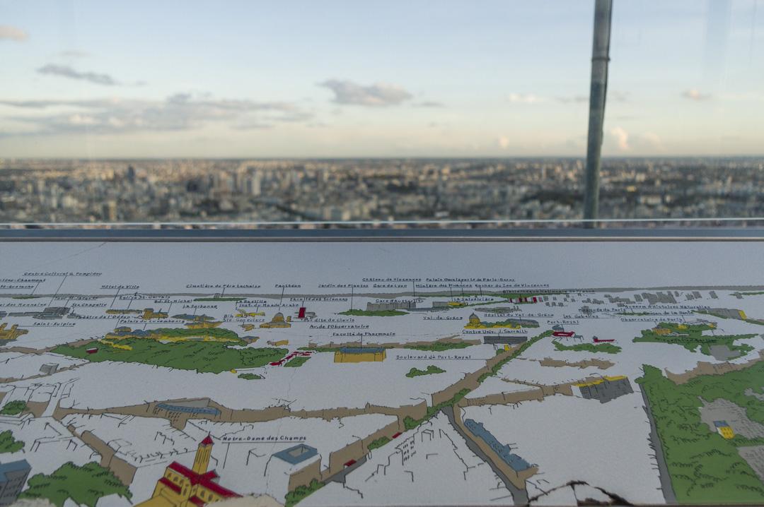 Table d'orientation de l'Observatoire de la Tour Montparnasse