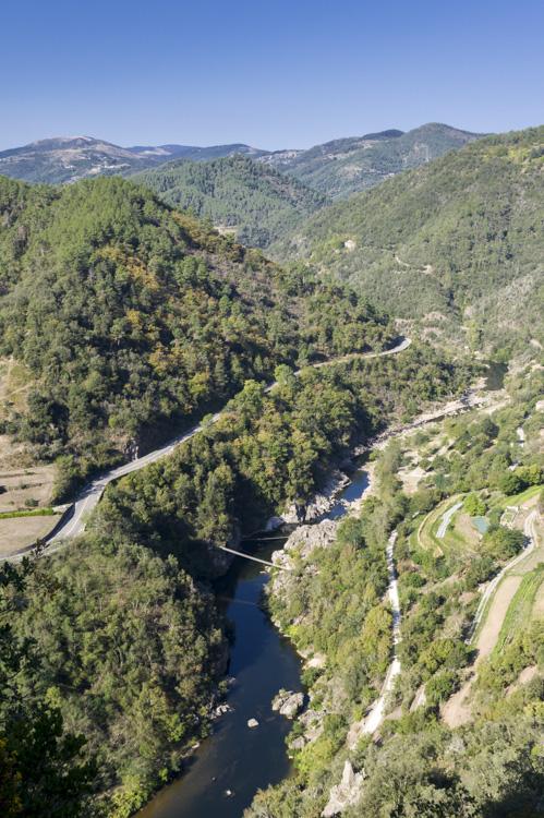 La vallée de l'Eyrieux en Ardèche