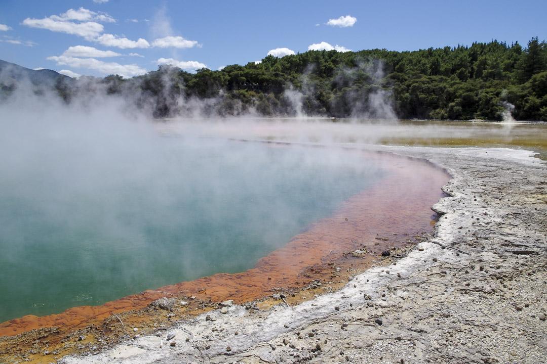 Wai-O-Tapu Thermal Wonderland, un site géothermique de l'ile du nord de la Nouvelle-Zélande