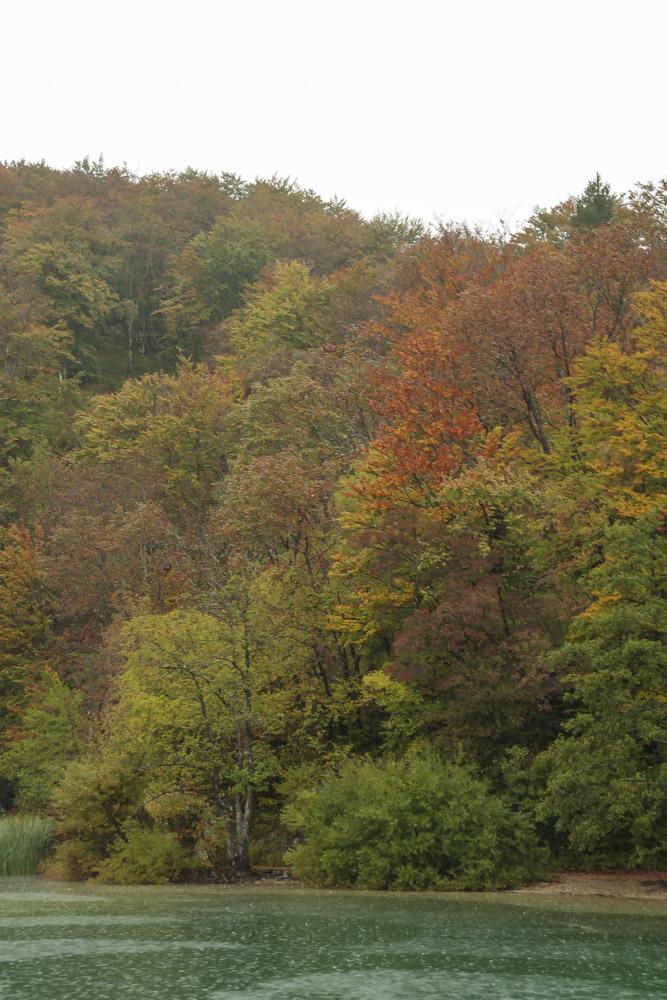 les couleurs d'automne à Plitvice