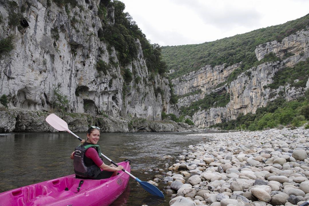 descente en canoe des gorges de l'Ardèche