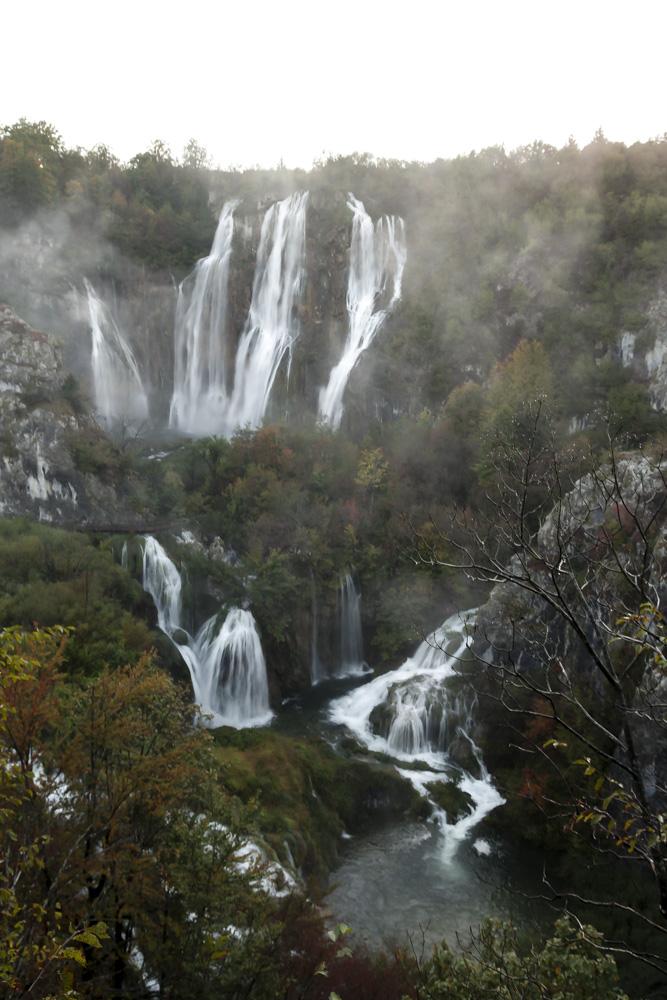 la grande cascade de Plitvice