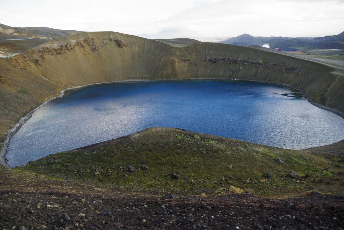 cratere viti - près de Myvatn en Islande
