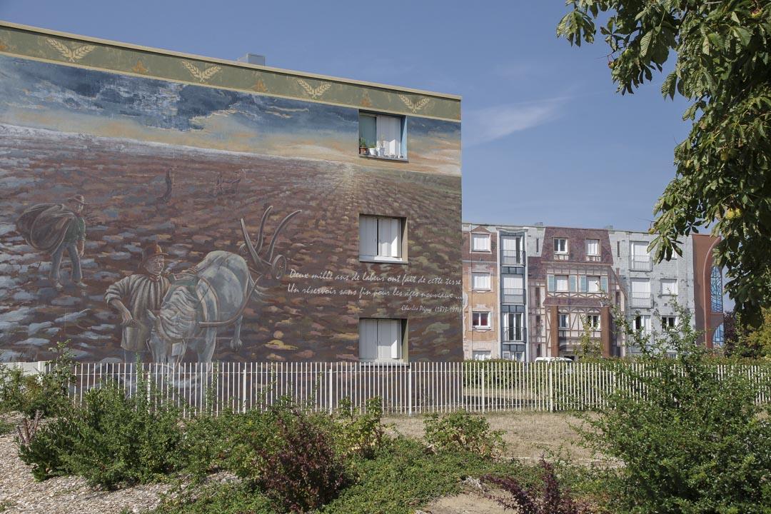 fresque du Quartier Bel Air à Chartres