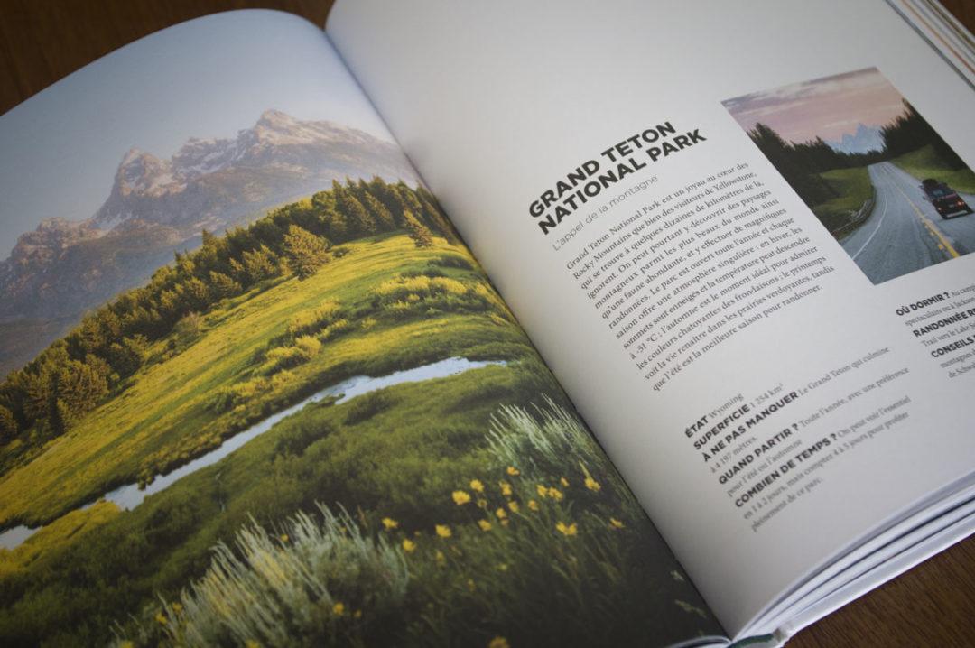 livre road-trip dans les parcs nationaux americains - Gallimard Voyage