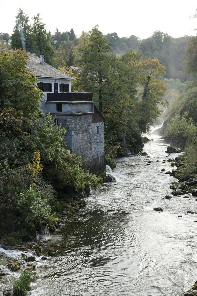 le village des moulins à Rastoke
