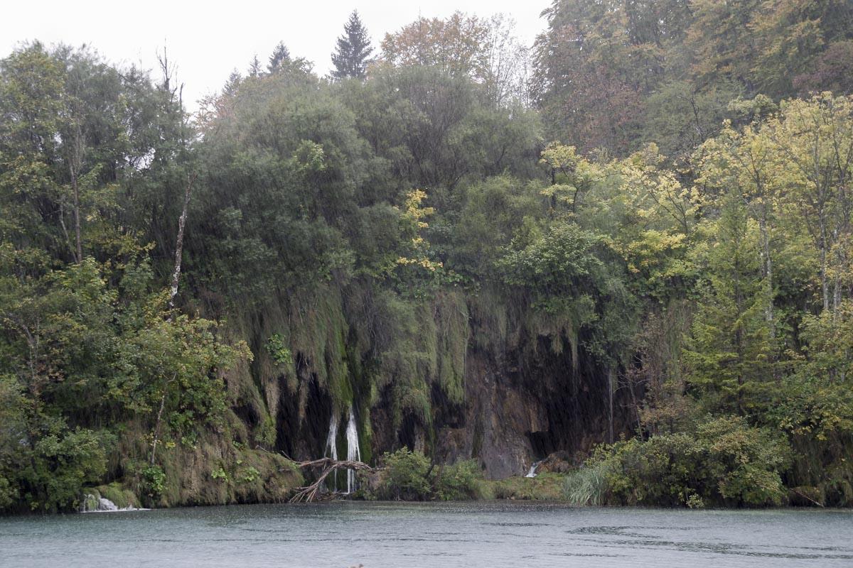 visiter les parcs de Plitvice sous le déluge