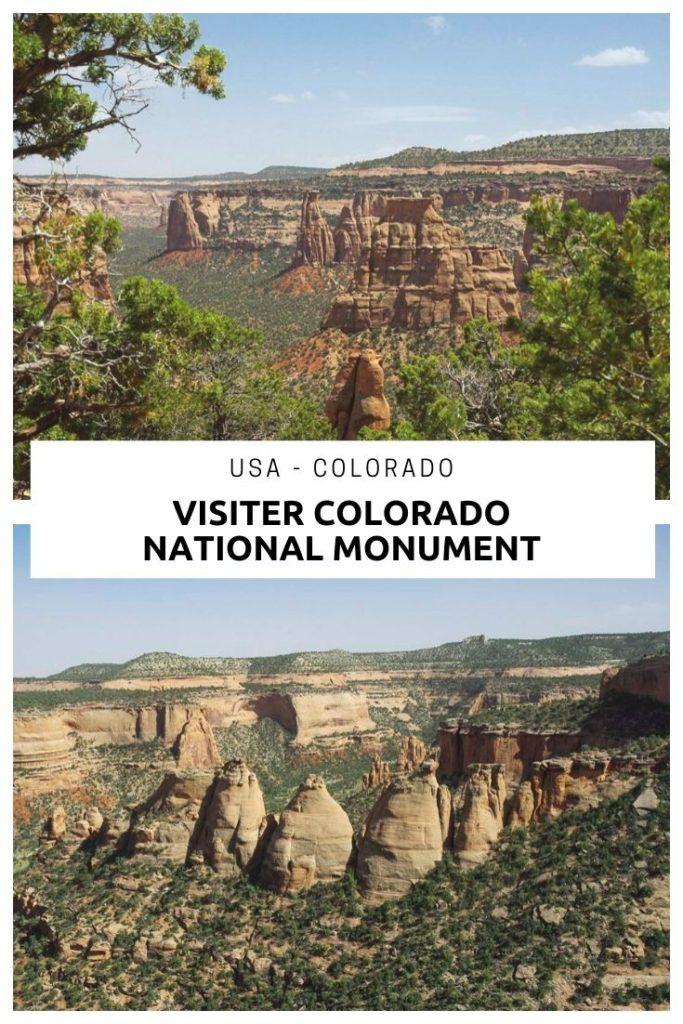 Route scénique et petites randonnées pour visiter le parc du Colorado National Monument aux USA