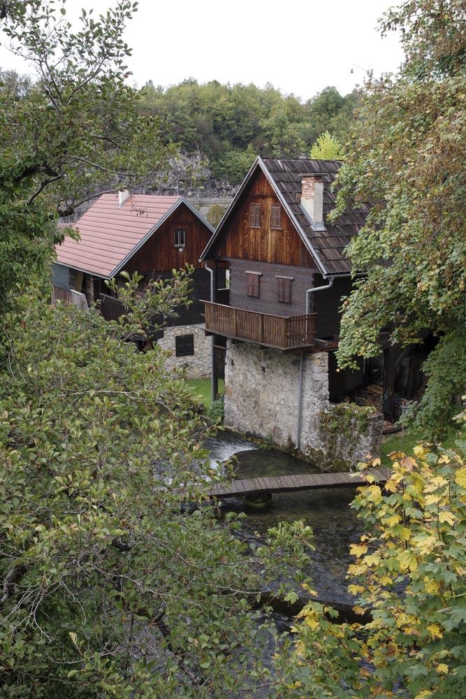 le village de Rastoke en Croatie