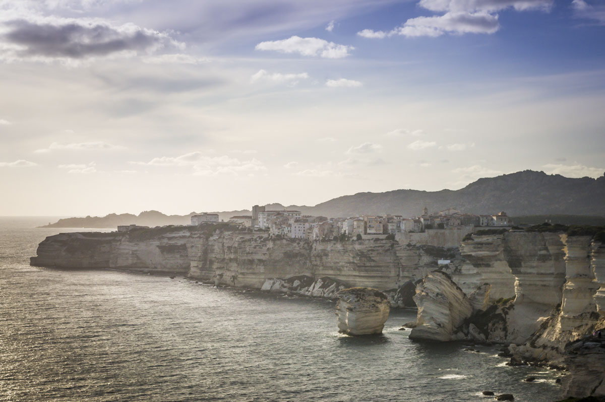 panorama sur les falaises de Bonifacio