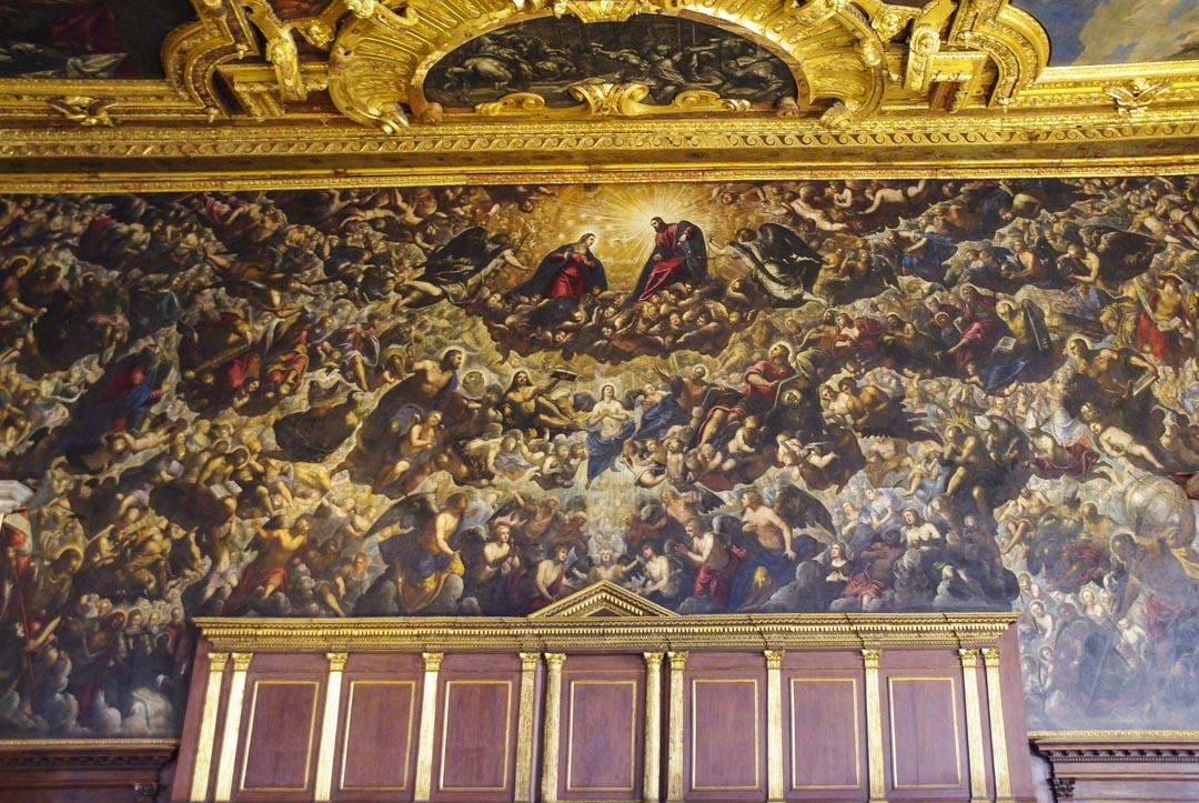 Fresque du Tintoret dans le Palais des Doges