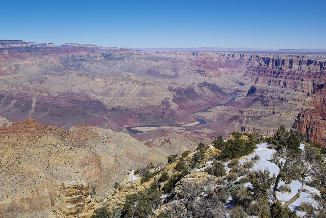 Le Grand Canyon et le fleuve Colorado