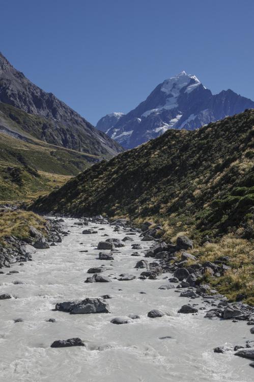 Hooker Valley Track et le Mont Cook
