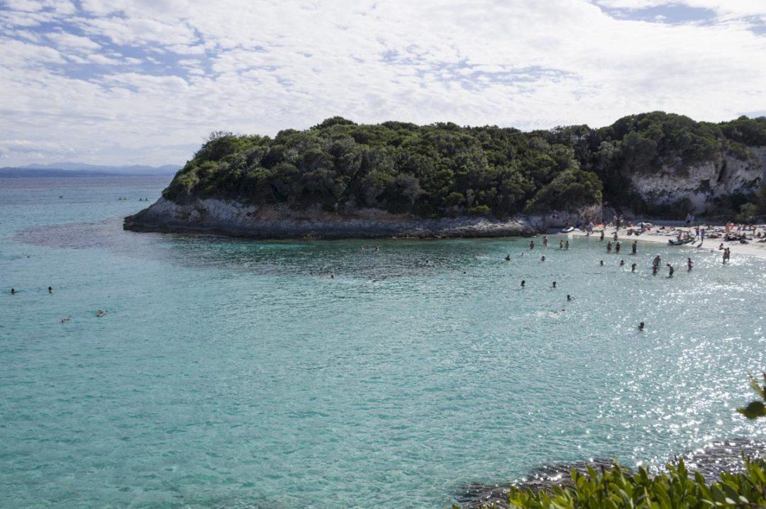 la plage de Petit Spérone près de Bonifacio