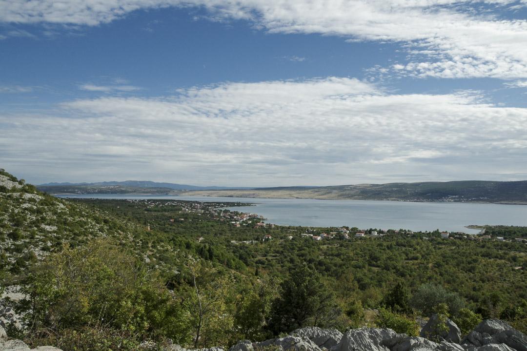 Panorama depuis le point de vue de Paklaric