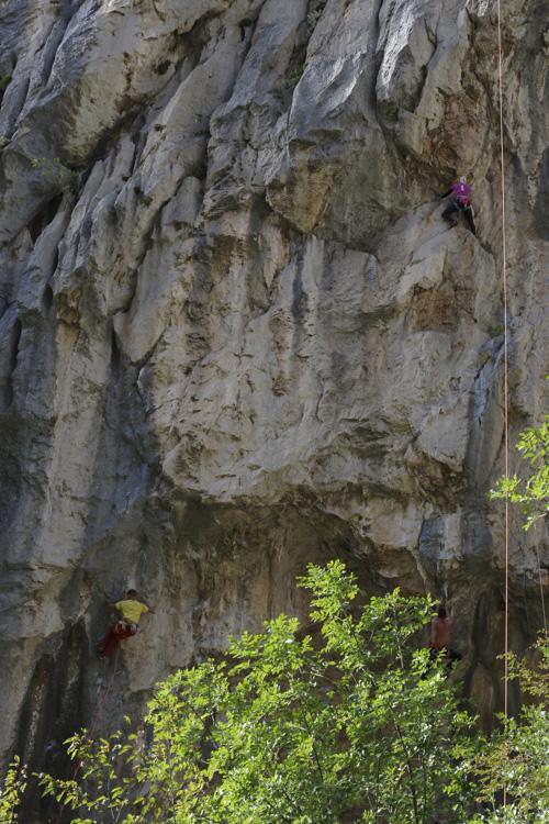 Escalade dans le parc national de Paklenica en Croatie