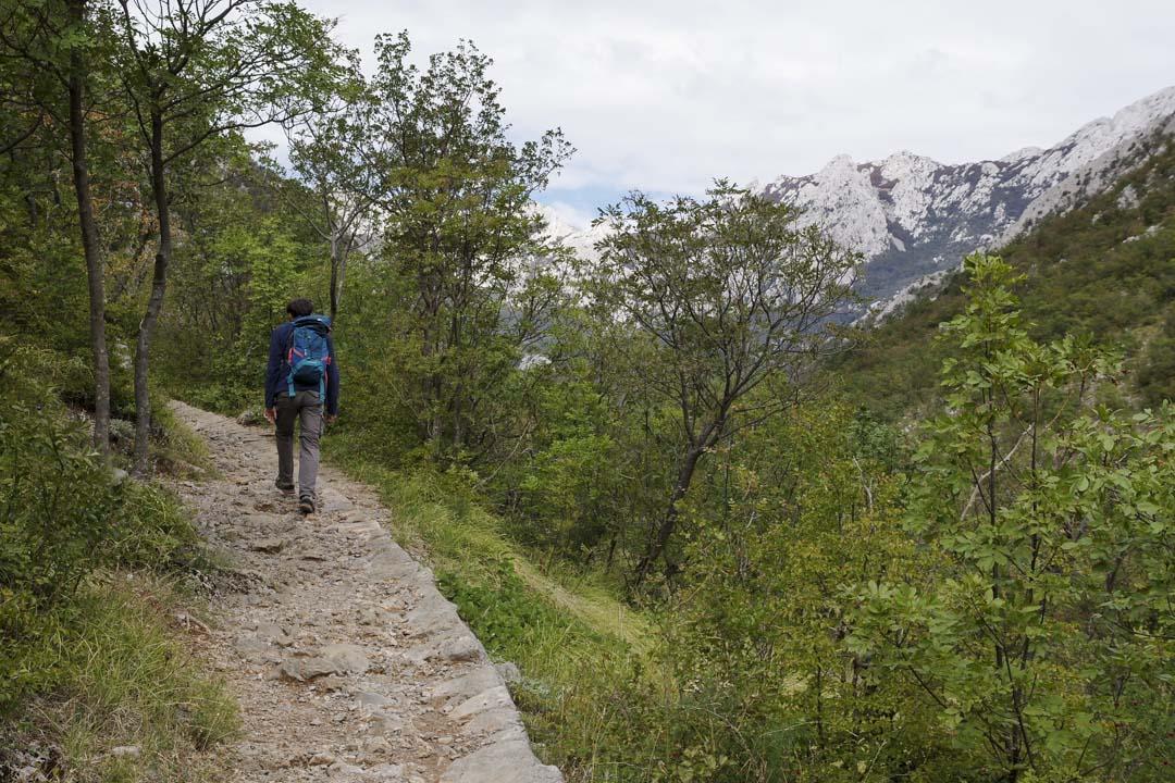 randonnée dans le canyon de Velika Paklenica