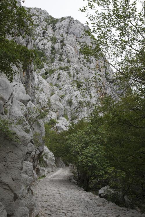 randonnée au canyon de Velika Paklenica